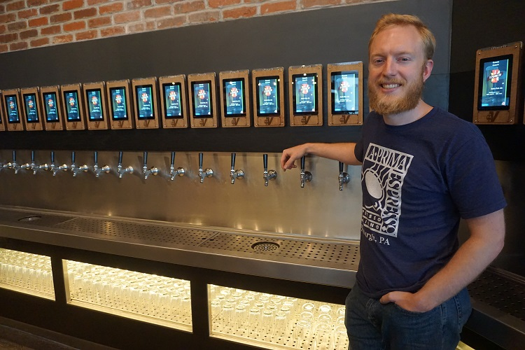 The Vault Taproom lets you sample beer at the iPourIt self-serve draft wall