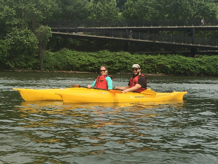 Enjoy kayaking from Kayak Pittsburgh on the North Side. Photo by TH Carlisle