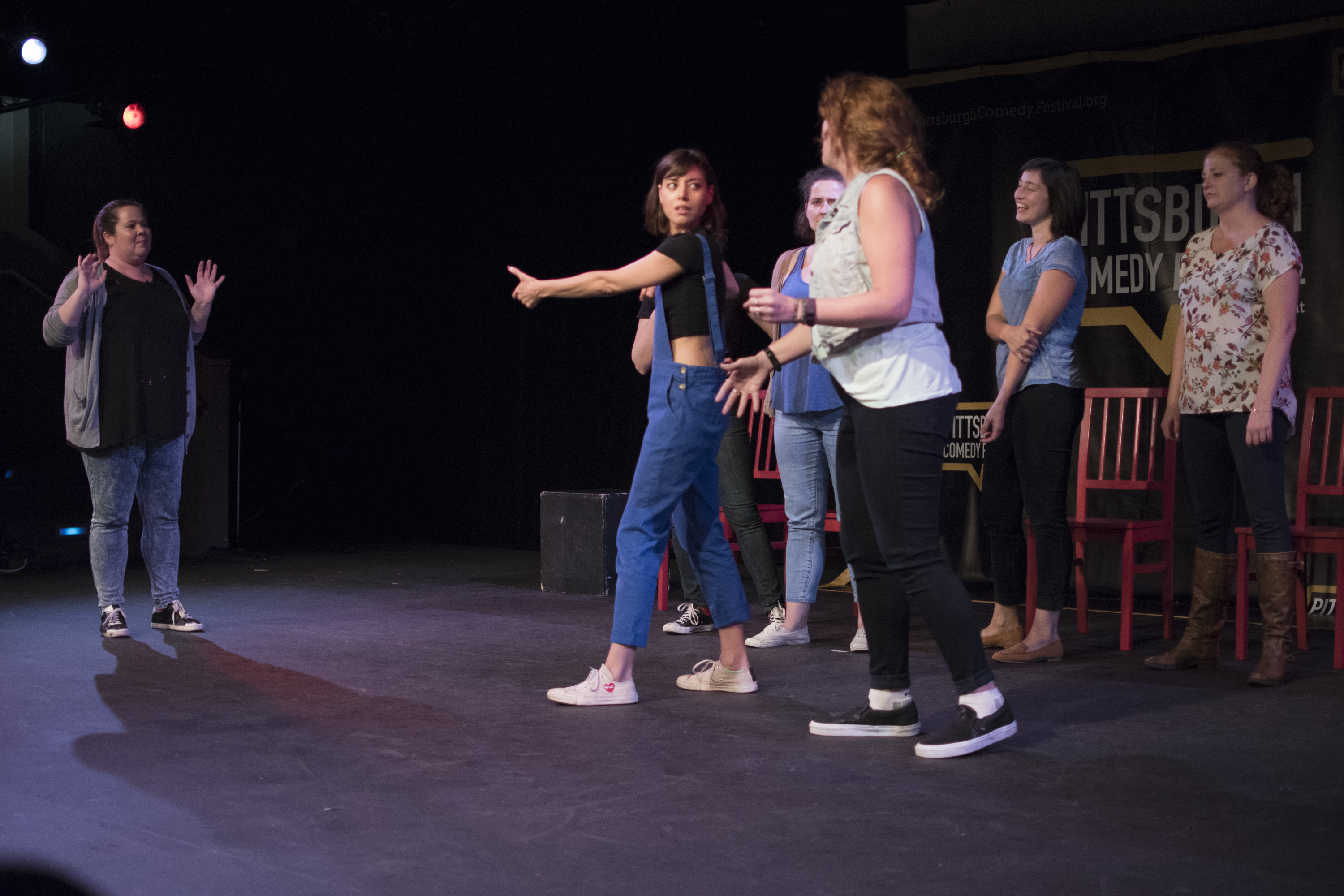 The improv group Bombardo (with Aubrey Plaza) headlined the Pittsburgh Comedy Festival.