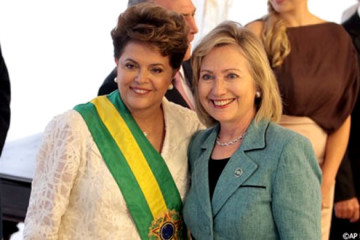 Clinton and Rouseff