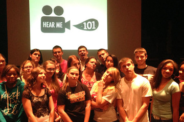 That's Steel Valley senior Chelsea Pearson looking appropriately thoughtful (front row, 4th from left) with her Hear Me 101 class.