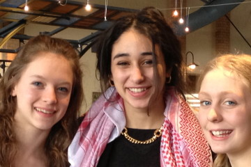 Last year's Be Inspired presenters included Ellis School senior Laila Al-Soulaiman (center), who initiated efforts to help victims of civil war in Syria, with Maine students Julia Bluhm (left) and Izzy Labbe, who successfully pushed Seventeen magazine to pledge not to alter girls' images.