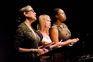Laurie Klatscher, Tami Dixon and Bria Walker at Bricolage. Photo by Amy Crawford.