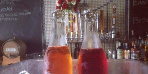 Bottled cocktails at the Independent Brewing Company