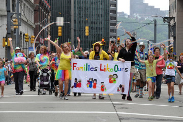 Part of the Pittsburgh Pride parade