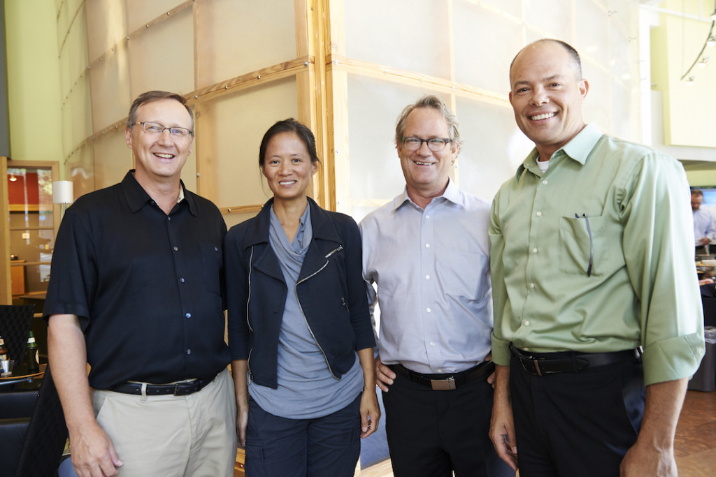 Gary Carlough, third from the left with his wife, Anne Chen and partners from GBBN.