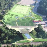 A rendering the completed Heth's Run project by Charles Uhl of Perkins Eastman