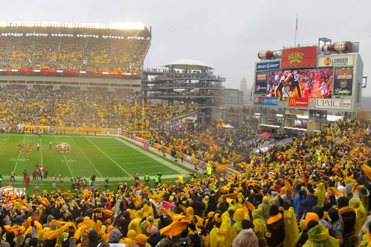 Heinz Field during a Steeler game. Photo by Brian Cohen.
