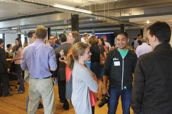 Networking at an event at Alpha Lab Gear