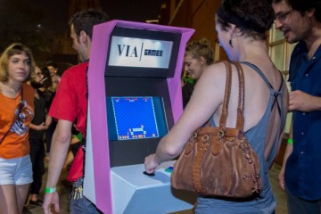 VIA Festival goers engage with games, music, and more.
