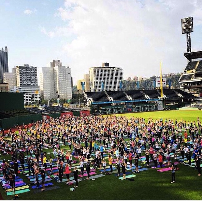 Oms in the Outfield. Photo by Lululemon Shadyside