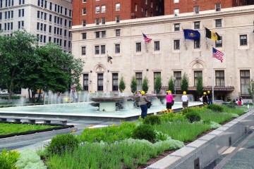 Mellon Square. Photo by Janna Leyde