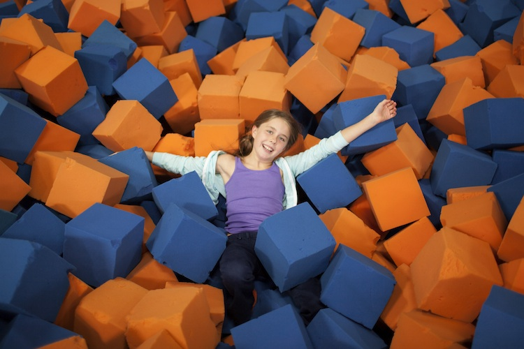 Foam pit at SkyZone Leetsdale, Photo courtesy of SkyZone