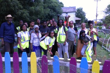 The African Liberation Garden in Homewood was created on city-owned land with support from Grow Pittsburgh.