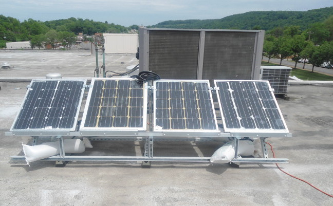 Solar panels made and installed by Beaver Falls Students