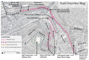 Map of proposed Neville Trail.
