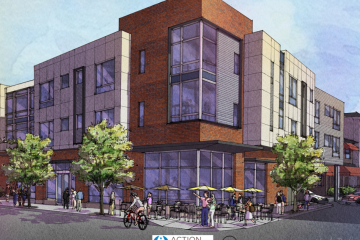 A rendering of Penn Mathilda Apartments