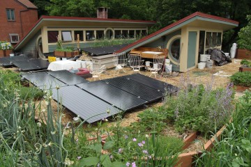 Solar array optimized for the valley home of Dr. Maren L. Cooke and her family.