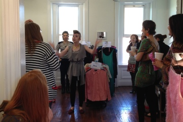 At the clothing swap. Photo by Jessica Server.