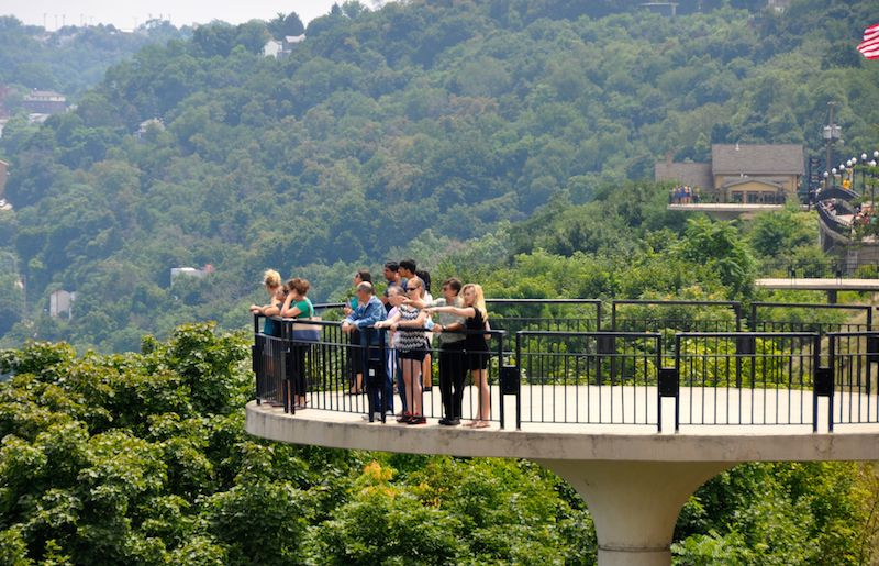 Pittsburgh has one of the best tree canopies in the country. Mt. Washington lookout photo by Tracy Certo.