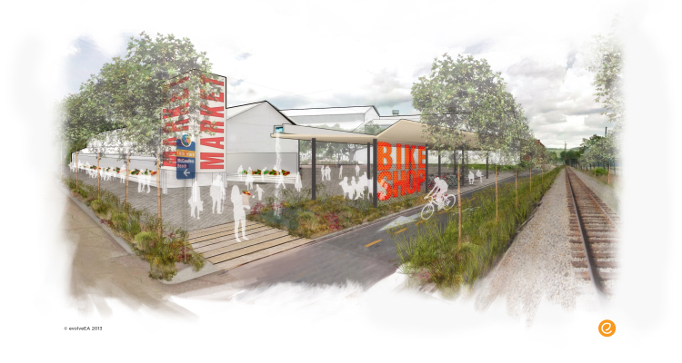 A rendering from the award-winning Upper Lawrenceville Targeted Development Strategy