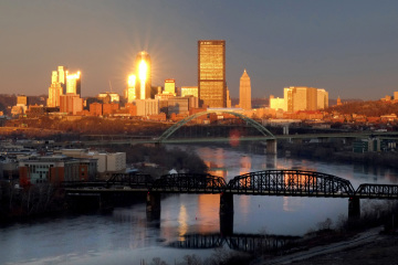 View of Downtown Pittsburgh, photo by Brian Cohen.