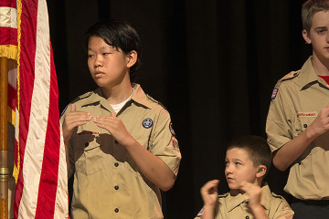 Boy Scout Troop 802. Photo by Martha Rial.