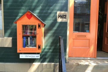 The little free library on the Northside. Creative projects like this can get funded. Photo by Tracy Certo