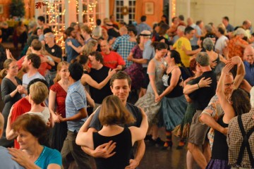 Contra dancing, a great way to chase those winter blues.  Photo by Trish Finn.