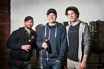 Dominic Cincotta, Jeff Hanna and Thomas Hanna run CoStar Brewing in Highland Park. Photo by Rob Larson.