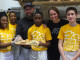 Chef Keith Fuller of Root 174 with Kelsey Weisgerber and students from the Environmental Charter School