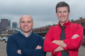 Benjamin Mantica, left and Tyler Benson, right, co-founders of Smallman Galley