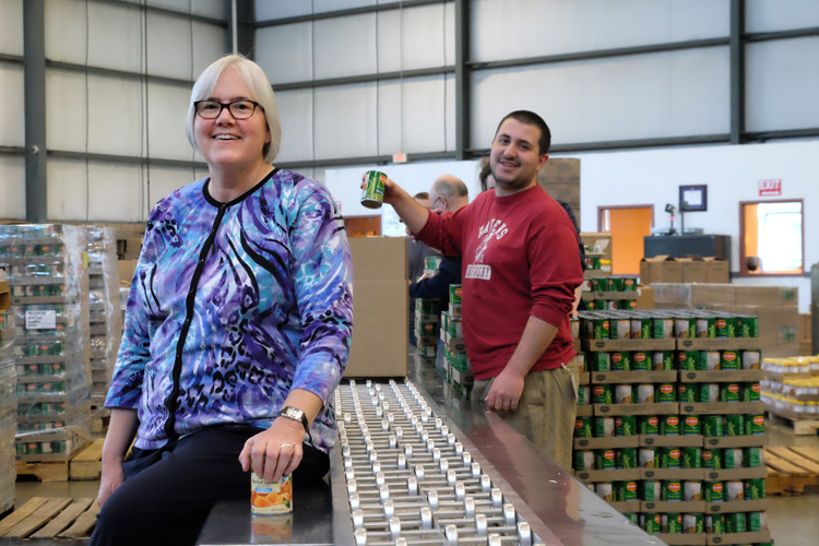 Lisa Scales of the Greater Pittsburgh Community Food Bank. Photo by Brian Cohen.