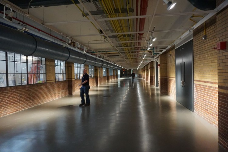The polished interior of the newly renovated Energy Innovation Center. Photo by TC Carlisle.