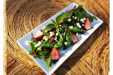 Strawberry and goat cheese salad at New Cafe