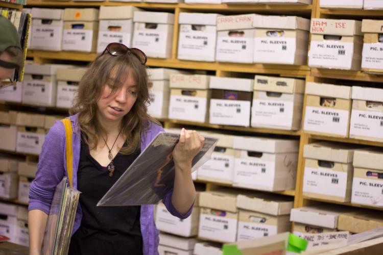 Jen Dalke, of Bridgeville, at Jerry's Records, in Squirrel Hill. Photo Credit: Brian Conway