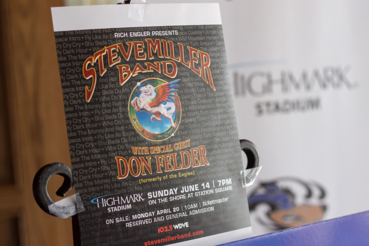 Concert Poster for the inaugural show at Highmark Stadium. Photo Credit: Brian Conway