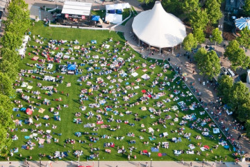 Schenley Plaza. Photo courtesy of WYEP.