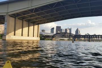 Pittsburgh from the river. Photo by Nick Certo