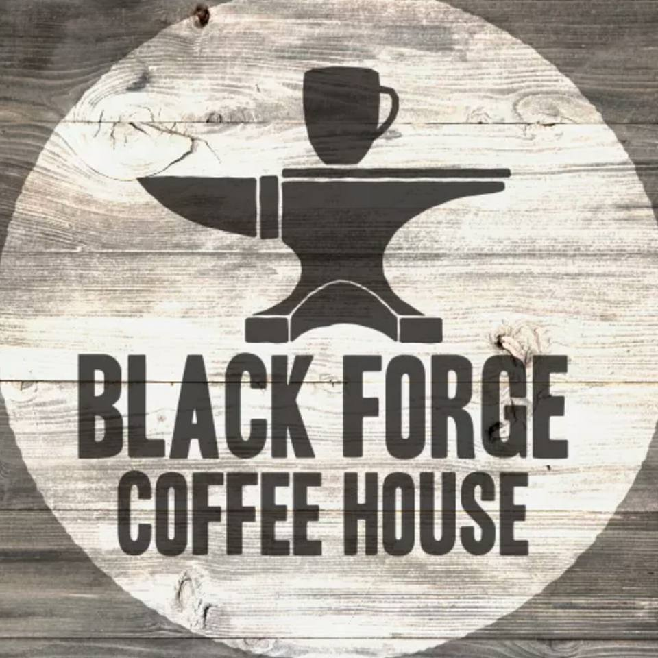 Black Forge Coffee House Logo. Courtesy of Black Forge Coffee