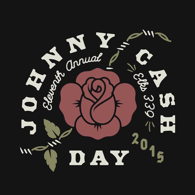 Johnny Cash Day design by Colin Miller.