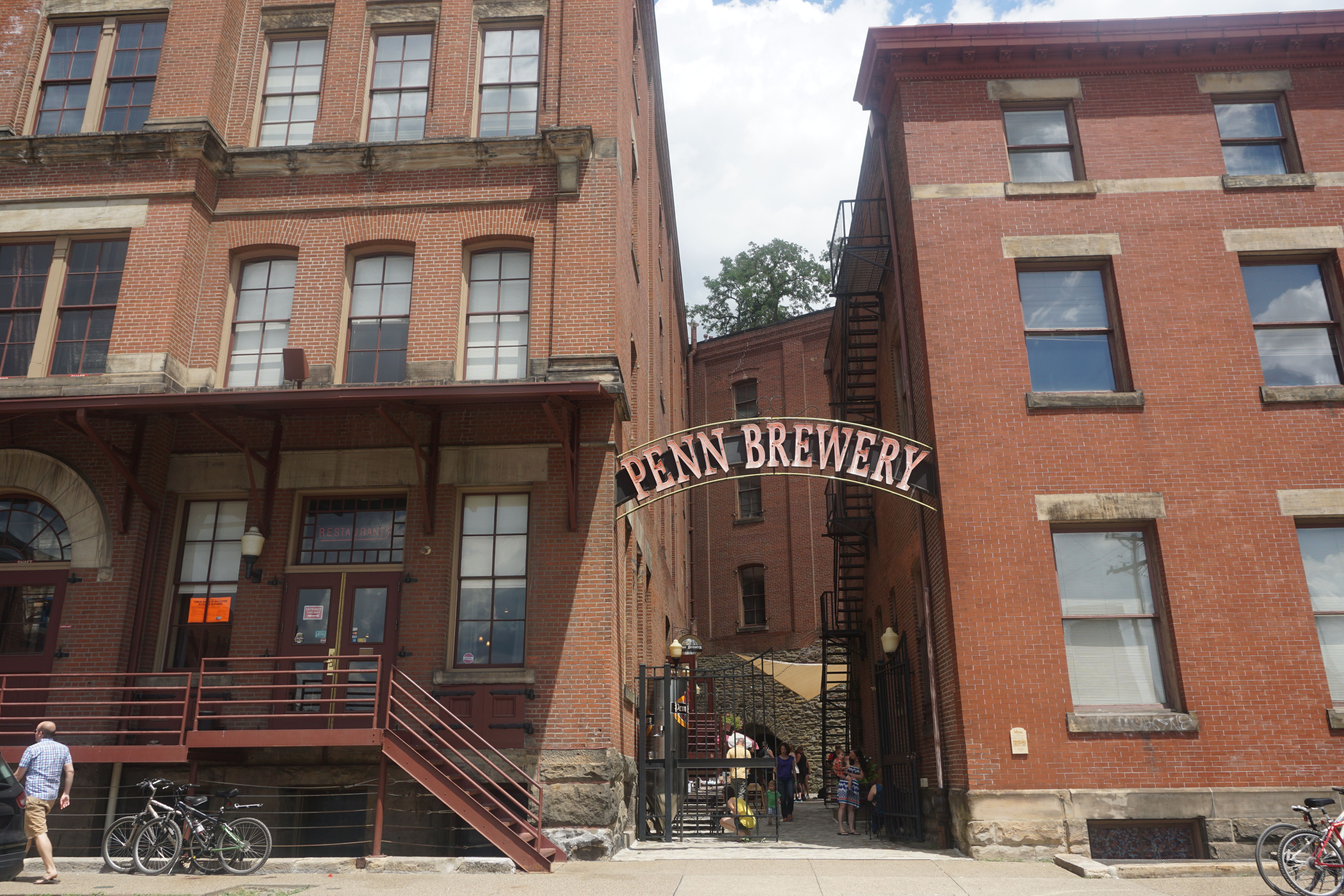 The historic and handsome Penn Brewery anchors Troy Hill. Photo by TC