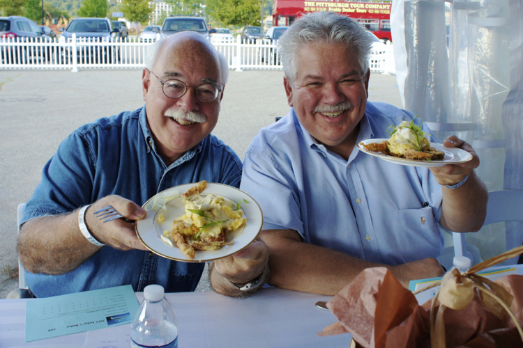 Rick Sebak and Chris Fennimore judging Savor Pittsburgh.