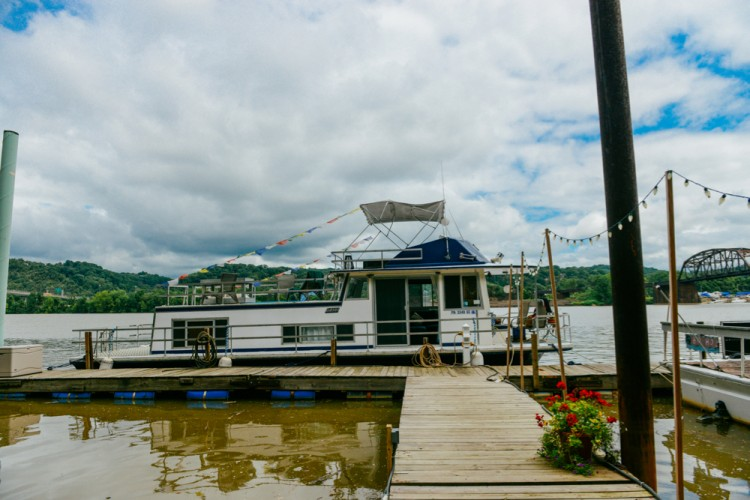 One of two vintage houseboats offered by the Choders through Airbnb. Quelcy  Kogel photo.