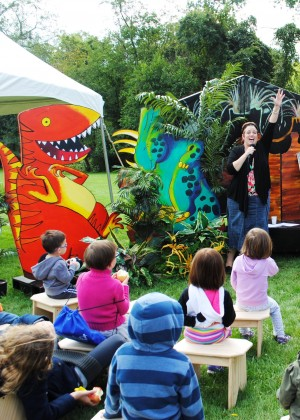 Interactive storytelling sessions at Alphabet Trail & Tales. Photo courtesy Citiparks.