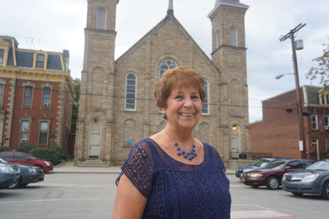 Carole Brueckner, who has led countless tours of St. Anthony Chapel.