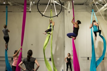 FullBody aerial silks class. Erica Gidley photo.