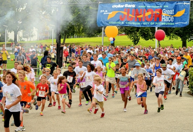 And, they're off at the Junior Great Race. Photo courtesy Citiparks.
