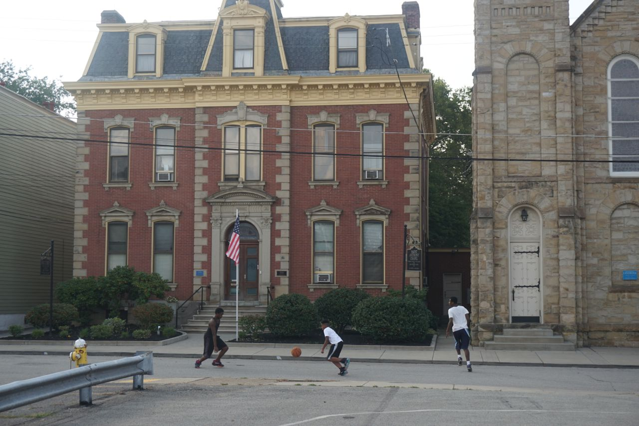 Kids at play in front of St. Anthony Chapel. Photo by Tracy Certo.