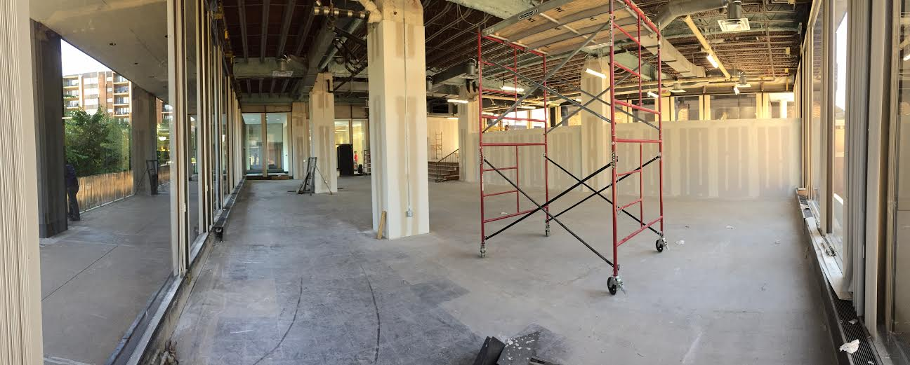 Radiant Hall's Northside space currently being built out.
